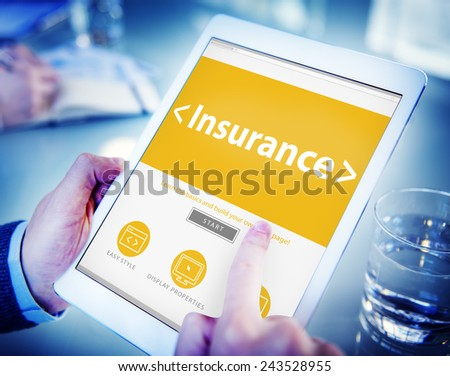 Insurance Business Benefits Security Protection Concept - stock photo