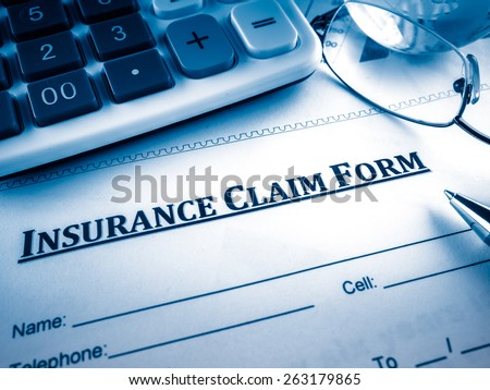 insurance claim form - stock photo