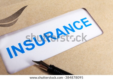 Insurance Claim form in brown envelope, can use insurance concept - stock photo