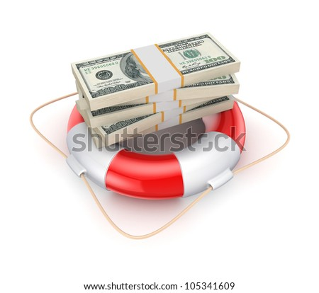 Insurance concept.Isolated on white background.3d rendered.