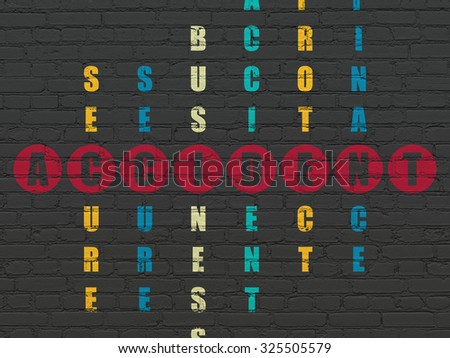 Insurance concept: Painted red word Accident in solving Crossword Puzzle - stock photo