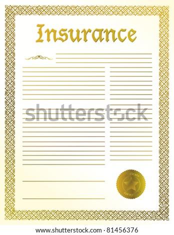 Insurance legal document illustration design - stock photo