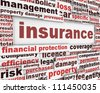 Insurance message concept. Risk management poster conceptual design - stock photo