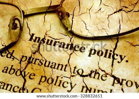 Insurance policy grunge concept - stock photo