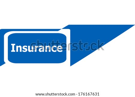 insurance sign web icon button, business concept - stock photo