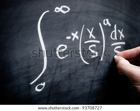 Integral calculus in classroom - stock photo