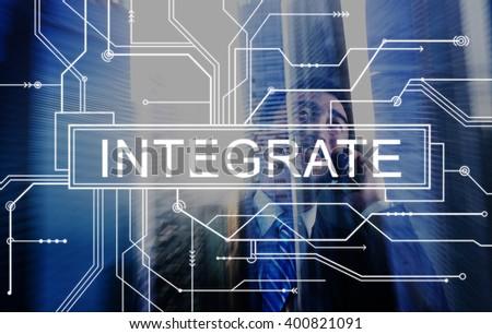 Integrate Circuit Board Graphics Concept - stock photo