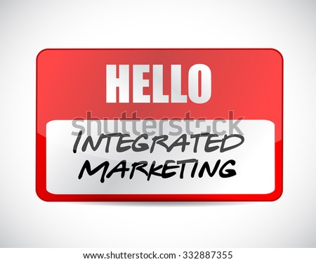 Integrated Marketing name tag sign concept illustration design graphic icon