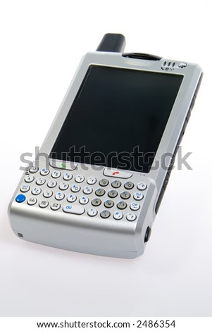 Integrated pda, cell phone, mp3 player and digital camera - stock photo