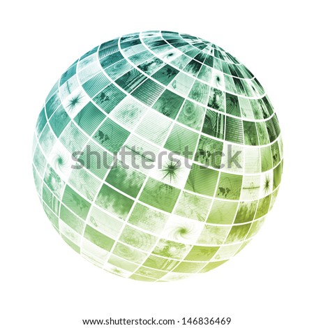 Integrated Workflow Business Concept as a Globe - stock photo