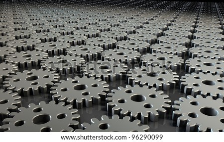 Integrated Workflow Business Concept as a Metaphor - stock photo