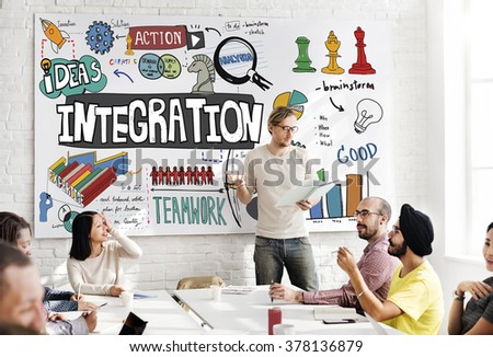 Integration Blend Combine Merge Unite Consolidate Concept - stock photo