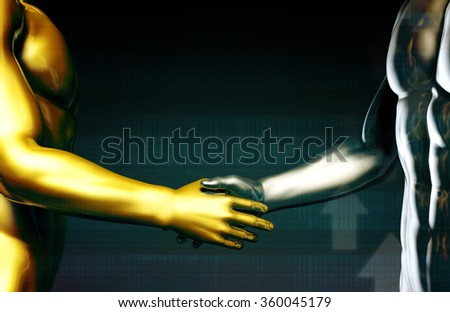 Integration with Technology as a Art Concept - stock photo