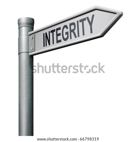 integrity authentic and honest and reliable guidance integrity button integrity icon trust - stock photo