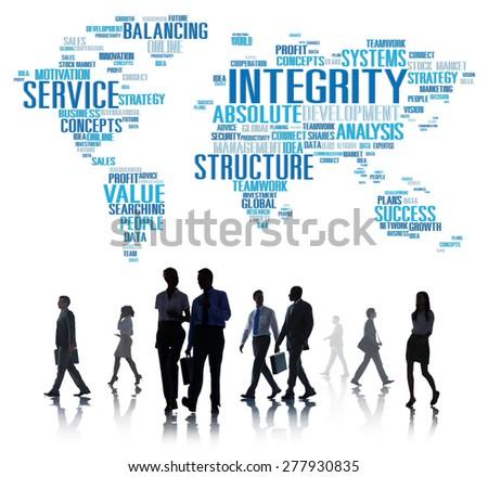 Integrity Honesty Sincerity Trust Reliability Concept - stock photo