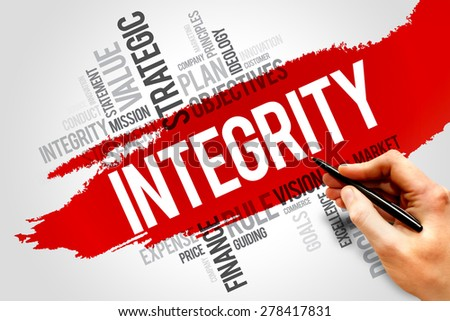 Integrity word cloud, business concept - stock photo