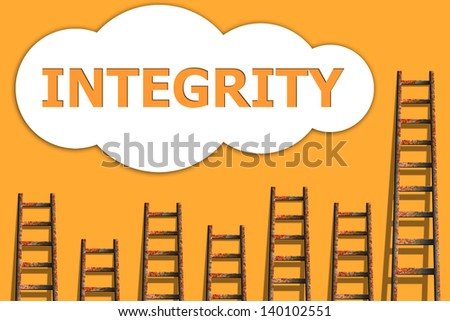 Integrity,wordding about success of business - stock photo