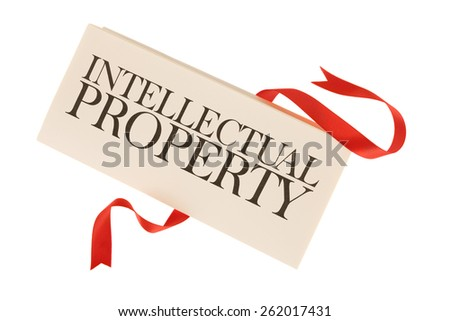 Intellectual property documents on white - stock photo