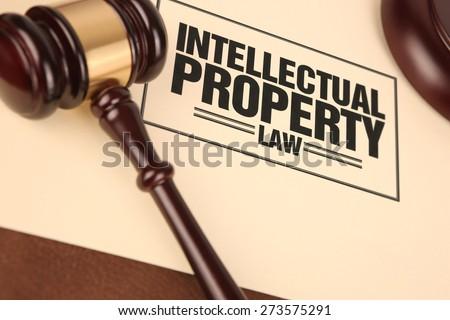 Intellectual property law - stock photo
