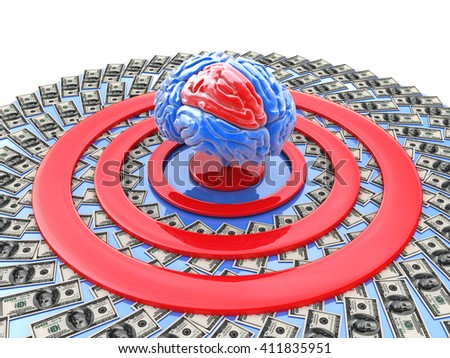 intellectually-financial goal for the design of information related to the tasks of personality development.3D illustration - stock photo