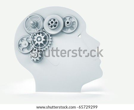 Intelligence concept - this is a 3d render illustration - stock photo