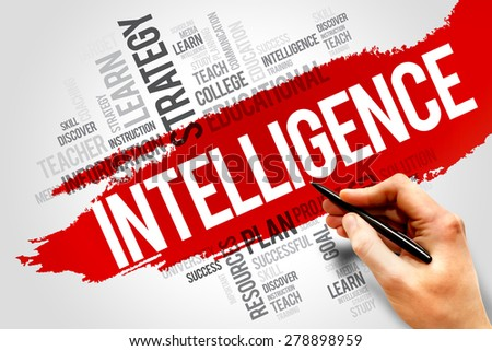 Intelligence word cloud, education concept - stock photo