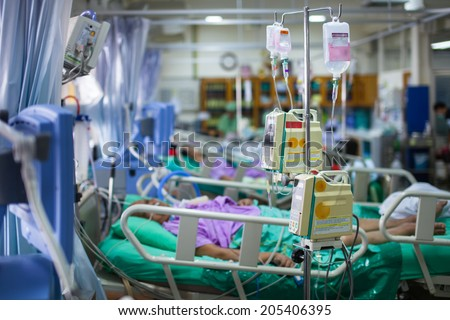 Intensive Care Unit - stock photo