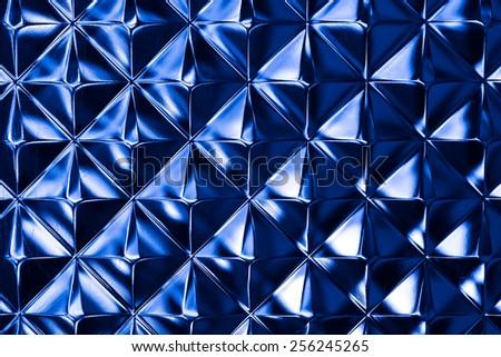 intensive light tone of colorful glass block wall texture closeup - stock photo