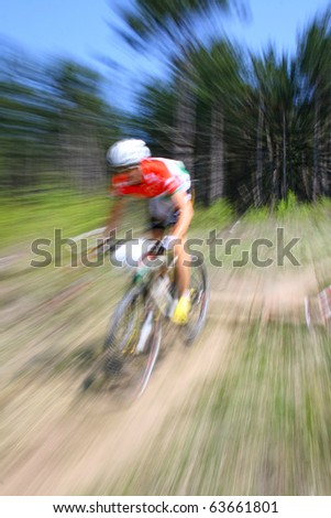 intentional motion blur abstract of a bike ride