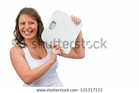Intentional weight loss refers to the loss of total body mass in an effort to improve fitness and health - stock photo