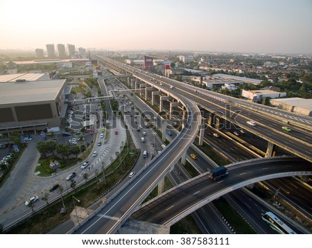 Inter-City Expressway and Ring Road Systems on the outer edge of Bangkok Metropolitan.