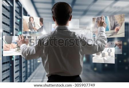 Interaction. - stock photo