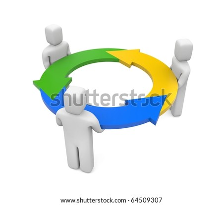 Interaction - stock photo