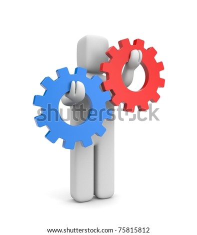 Interaction or competition metaphor - stock photo