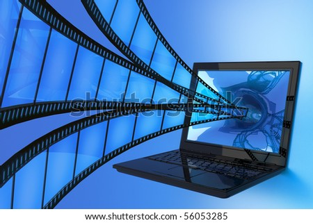 Interactive video - stock photo