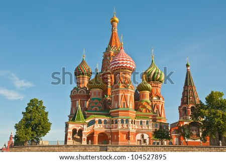Intercession Cathedral (St. Basil's) on Red Square in Moscow, Russia.