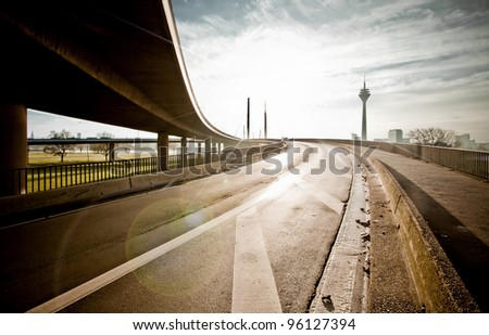 Interchange Industrial - stock photo