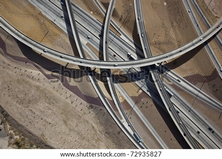 Interchange Tucson Aerial - stock photo