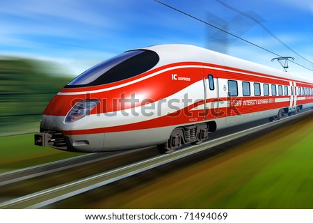 InterCity Express - stock photo