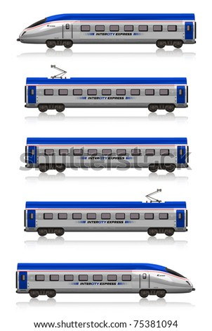 InterCity Express train set - stock photo