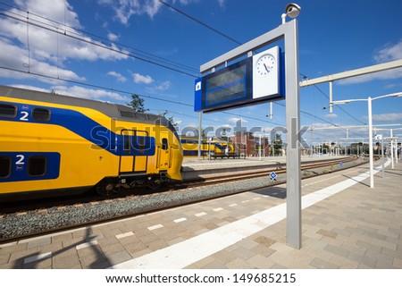 Intercity train at Arnhem Central Station, The Netherlands  - stock photo