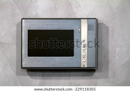 Intercom closeup - stock photo