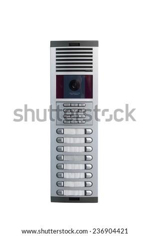 intercom isolated on white background - stock photo