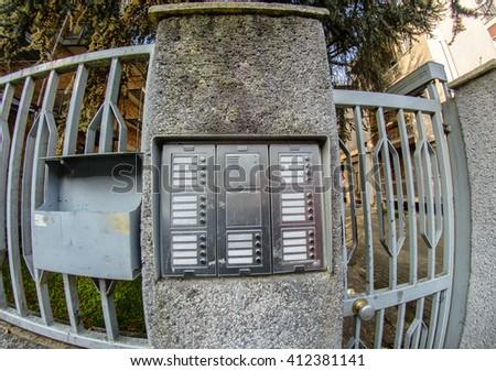 Intercom. Italy - stock photo