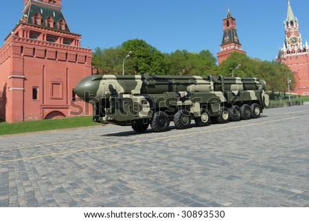 Intercontinental ballistic missile - stock photo