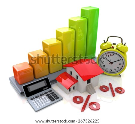 Interest on property loans  - stock photo