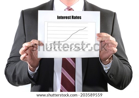 Interest Rate Hike or rising concept - stock photo