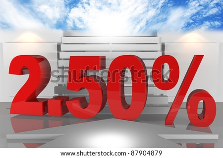 Interest rates Two point fifty percent