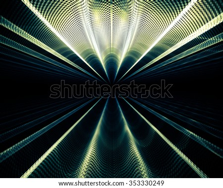 Interesting abstract background in techno style. Futuristic, suitable for themes of progress, technology, unknown. - stock photo