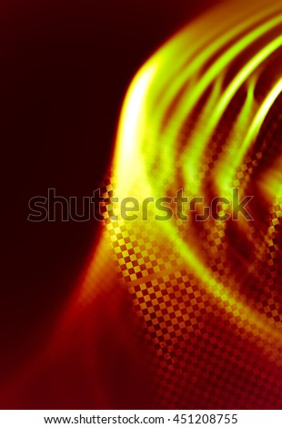 Interesting abstract background in techno style. Stylized decorated fragment of the checkered flag. Expressive approach to the subject races, rallies, speed, sport.  Racing abstract background. - stock photo